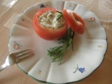 Tomaten mit Mozarella gefüllt - Rezept