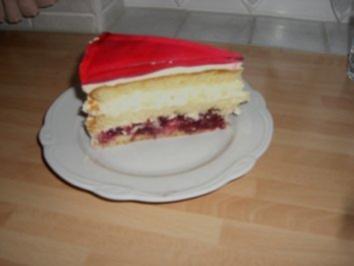 Kirsch- Käse-Sahne-Kuchen - Rezept