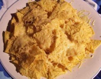 Nachos überbacken mit käse