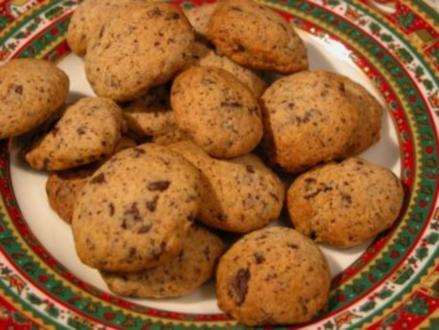 Plätzchen - Schoko Cookies - Rezept