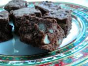 Dessert / Kuchen - Walnuss-Brownies - Rezept
