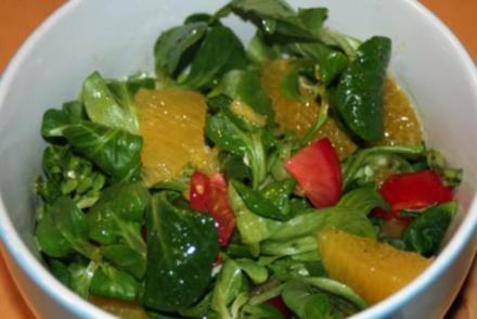 Salat mit Orangen - Rezept