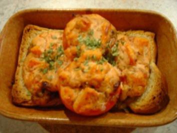 Rezept: Tomaten mit Garnelen-Füllung... überbacken