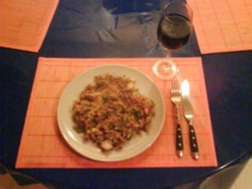 Reis: Bratreis mit Wachtelbohnen, Gemüse und Speck - Rezept
