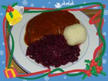 Kalbsrollbraten mit Rotweinsoße - Rezept