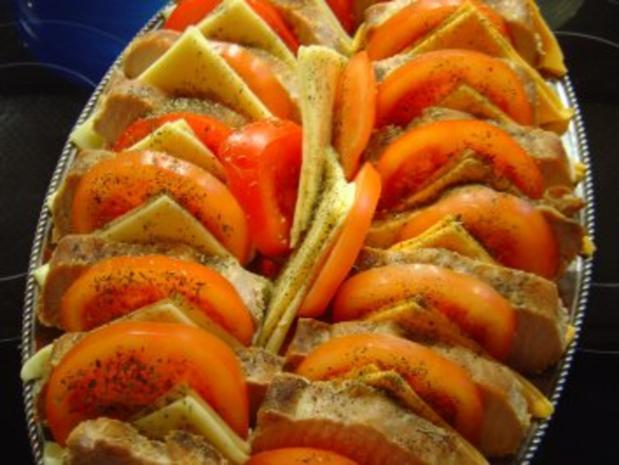 Lachs-Braten vom Schwein mit Käse und Tomaten - Rezept - Bild Nr. 6