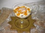 Mandarinen-Joghurt-Kokos/Zimt-Makronen-Schichtspeise.... Bilder sind dabei - Rezept