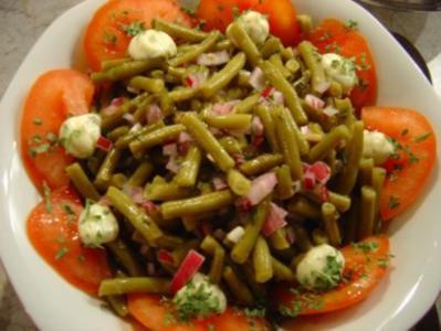 Oma´s grüner Bohnensalat - Rezept