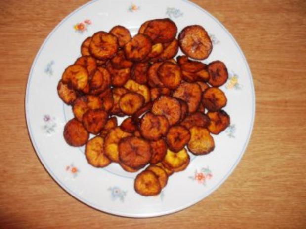 """"""" Plantains-Chips """" Typischer Snack aus Westafrica - Rezept"""