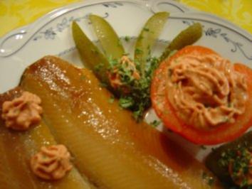 Rezept: Für das Silvester-Bufett....Brados = Lachshering-Filet geräuchert und gesalzen mit feiner Creme