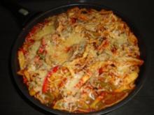 Maultaschen-Paprika-Pfanne - Rezept