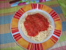 Tomatensoße mit Basilikum - Rezept