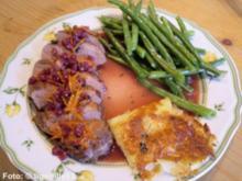 Entenbrust mit Orangen-Preiselbeersoße - Rezept