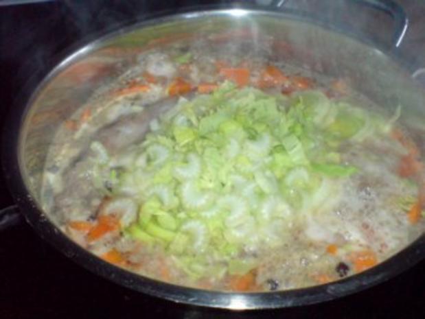 Geflügel-Gemüse-Brühe mit den Innereien der Pute - Rezept - Bild Nr. 10
