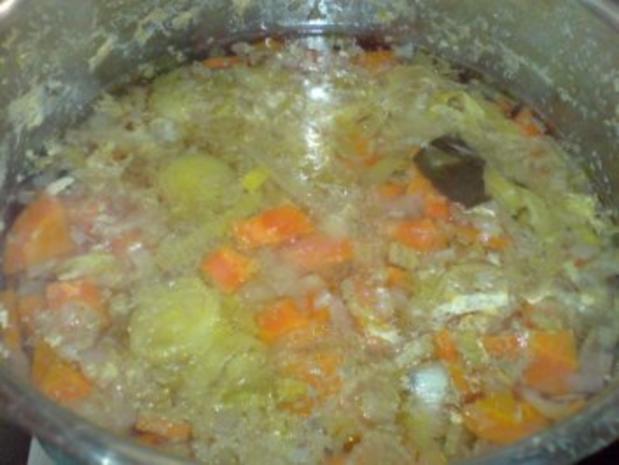 Geflügel-Gemüse-Brühe mit den Innereien der Pute - Rezept - Bild Nr. 11