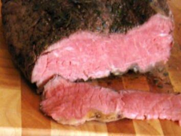 Roastbeef rosa, Niedergaren - Rezept