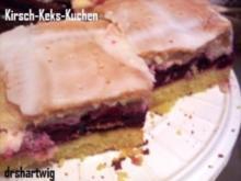 Kuchen~Blechkuchen~Kirsch-Keks - Rezept