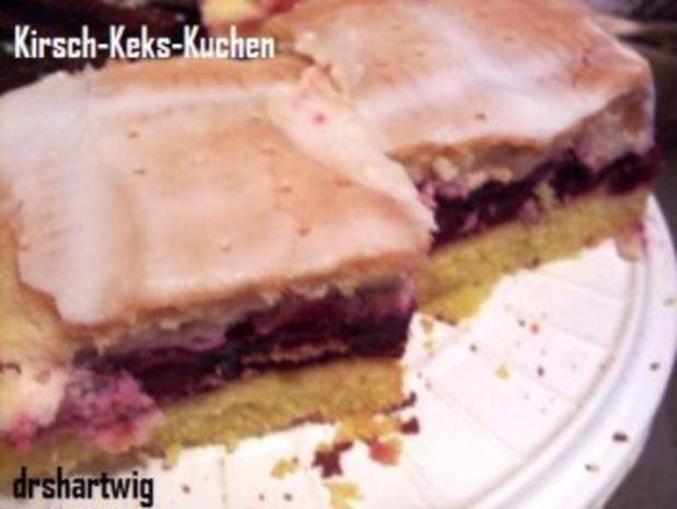 kuchen blechkuchen kirsch keks rezept. Black Bedroom Furniture Sets. Home Design Ideas