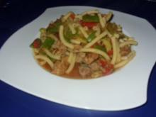 Filet-Gemüse-Nudel-Pfanne - Rezept