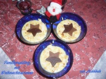 Dessert: Vanillepudding mit Weihnachtsaromen - Rezept