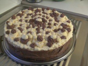 Schoko-Vanille-Crem- Torte - Rezept