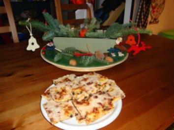 Zuckerkuchen aus Stollenteig - Rezept