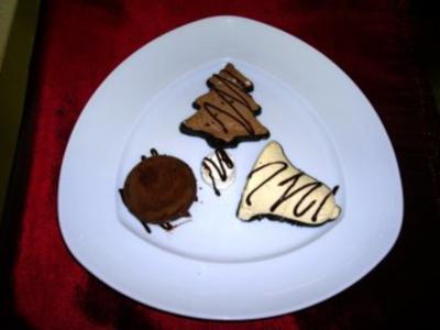 Weihnachtsmenue 24.12.09. Heiligabend. 5.) Gang Schokoladentrilogie - Rezept