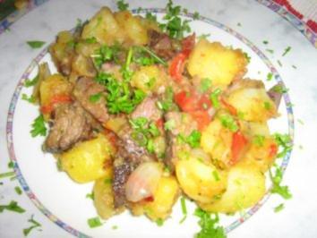 Rezept: Filetstreifen mit Bratkartoffeln