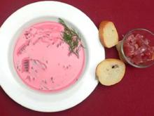 Kalte Rote-Bete-Suppe mit Tunfischtatar - Rezept
