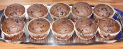 Kleingebäck - Heidelbeer-Muffins mit Schoko-Tröpfchen - Rezept