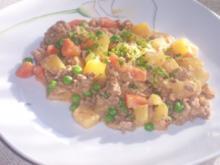 Geschmortes Zwiebelhackfleisch - Rezept