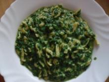 Spinat mit Tagliatelle - Rezept