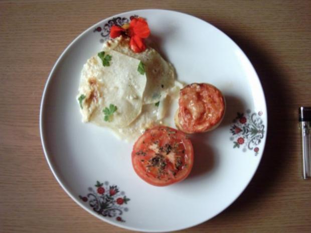Kohlrabiauflauf mit Gorgonzola - Rezept