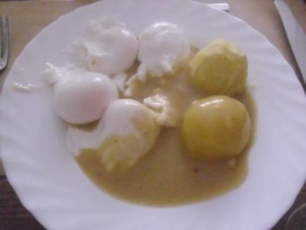 Verlorene Eier mit  Senfsoße Nr. 2 - Rezept