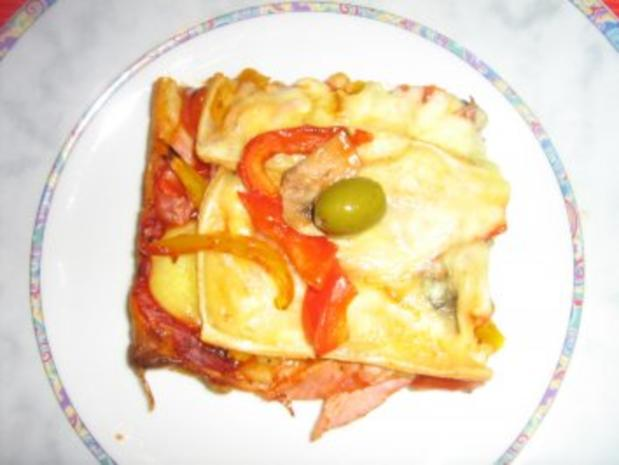 Raclette - Pizza - Rezept