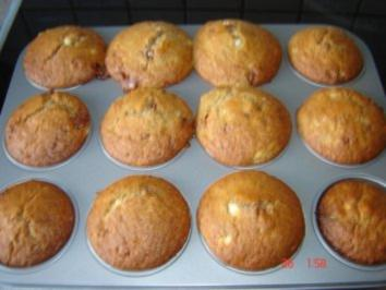 Bananen Schoko Muffins - Rezept
