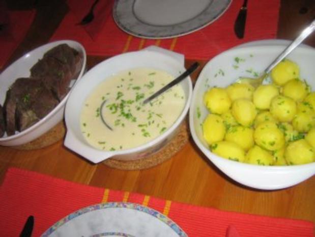 Rindfleisch mit feiner Meerrettichsoße, Kräuterkartoffeln  und Rote-Bete-Salat - Rezept - Bild Nr. 7