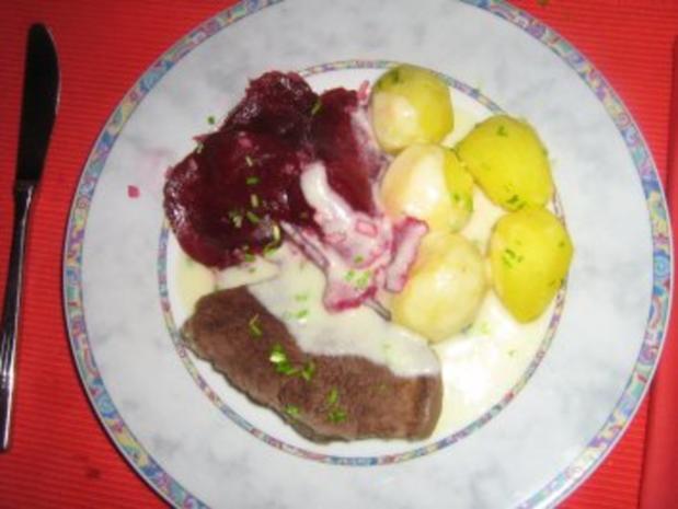 Rindfleisch mit feiner Meerrettichsoße, Kräuterkartoffeln  und Rote-Bete-Salat - Rezept - Bild Nr. 8