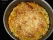 Gemüse-Gerichte: Reiskuchen mit Zuchini und Rucola - Rezept