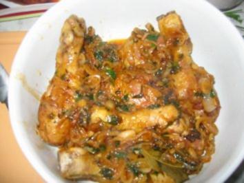 Gekräuterte Hähnchenkeulen - Rezept