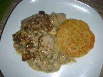 Filet-Topf mit Pfifferlingen und Champignons - Rezept