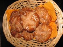 Dinkel-Vollkorn-Laugenbrötchen - Rezept
