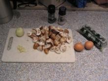Omelette mit Spinat und Pilzen - Rezept
