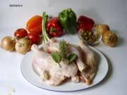 Fleische - Gerichte : Hühnerpfanne - baskischer Art - Rezept