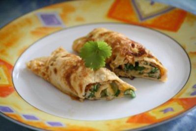 Thailändische Omeletteröllchen - Rezept