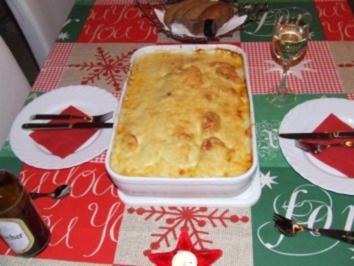 Kartoffel-Wirsing-Lachs-Lasagne - Rezept