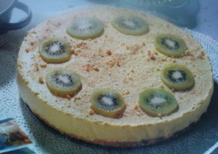 Philadelphia ( Frischkäse ) Zitronen Kuchen auf Löffelbiskuitboden ~ - ganz ohne Backen -~ - Rezept