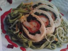Hähnchenrolle, Roulade mit Garnelen - Rezept