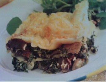 Spinat Pilze Lasagne auf italienische Art - Rezept