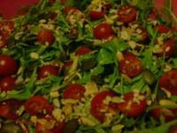 Rucolasalat mit Tomaten, Parmesanspäne und Kerne-Mix - Rezept - Bild Nr. 6
